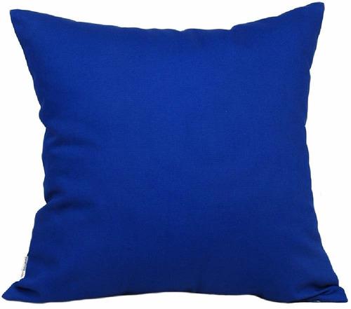 funda echa a mano tangdepot 18x18 azul rey