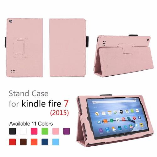 funda elsse de fire 7 2015 - folio con soporte rosa claro