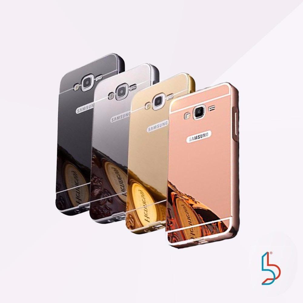 Funda Espejada Metalica Samsung J2 Prime Vidrio Templado