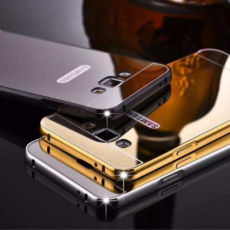 0267ec92b8b Funda Espejo Aluminio Bumper Case De Lujo Galaxy J5 - $ 99.00 en ...