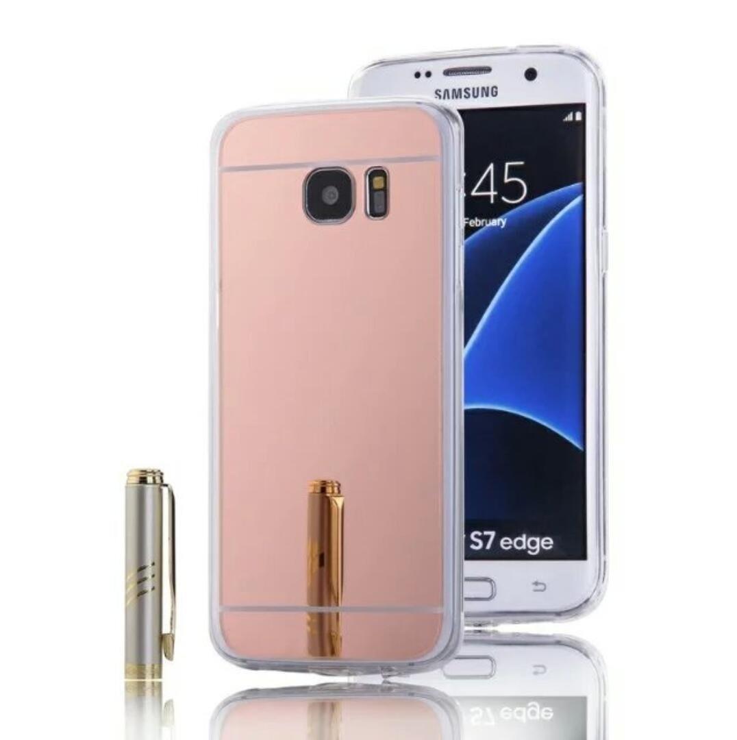 c380d96a960 Funda Espejo Oro Suave Flexible Samsung Galaxy S7 Edge - $ 99.00 en ...