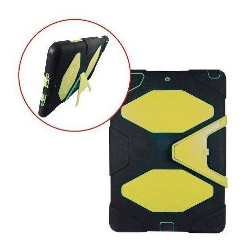 funda estilo survivor ipad air 1 uso rudo base negro verde