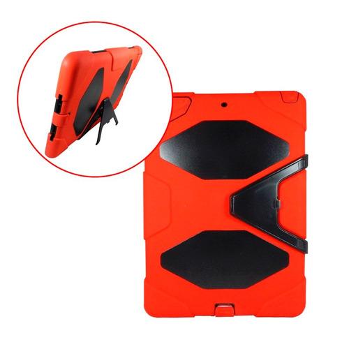 funda estilo survivor ipad air 1 uso rudo base rojo negro