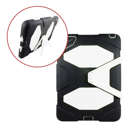 funda estilo survivor ipad mini uso rudo base negro blanco