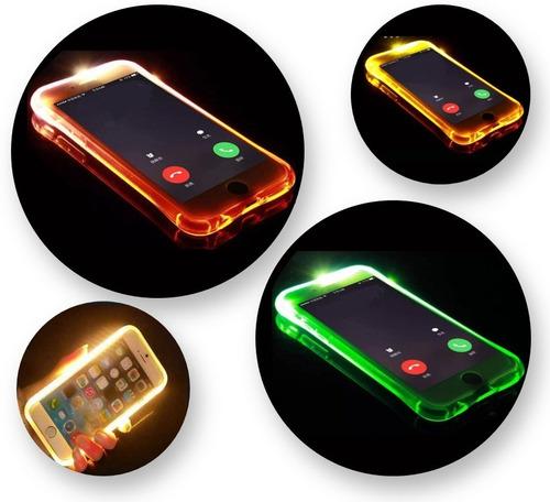funda estuche carcasa led para iphone 6 y 6s bde