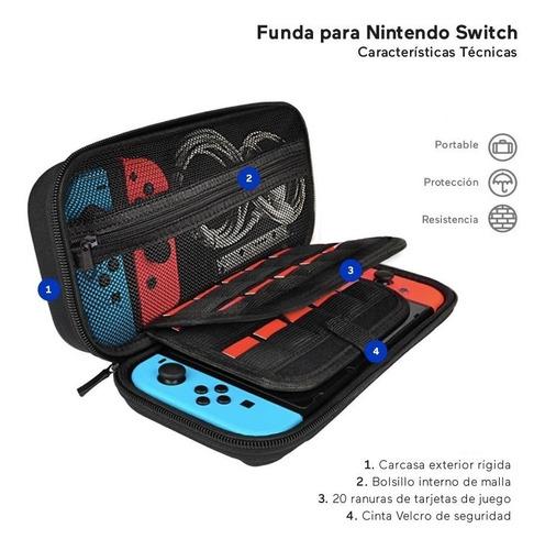 funda estuche nintendo switch juegos consola
