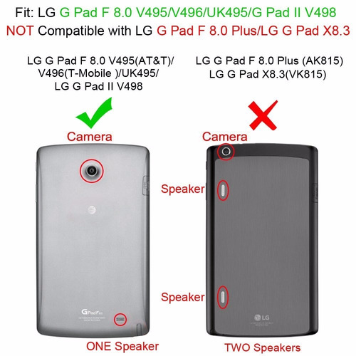 funda fintie lg g pad f / g pad ii 8.0 caso 8.0 - [anti slip