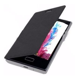 funda flip cover celular lg optimus l9 rosa negro plastico