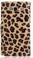 funda flip cover con diseño leopardo para samsung a3