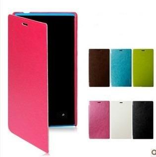 funda flip cover nokia lumia 520 620 720 925 1020 + film