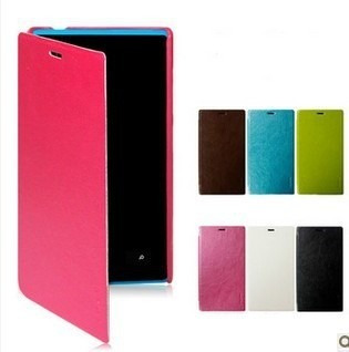 funda flip cover nokia lumia 620 720 920 + film