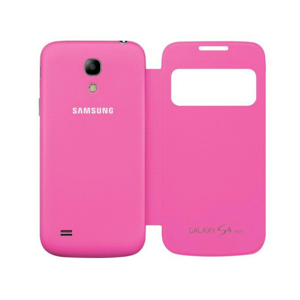 samsung s4 mini flip cover rosa