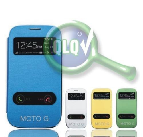 funda flip cover shell s view moto g g2 2da gen xt1068 +film