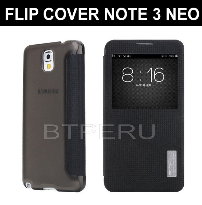 funda flip cover view cover samsung galaxy note 3 neo lite s 70 00 en mercado libre. Black Bedroom Furniture Sets. Home Design Ideas
