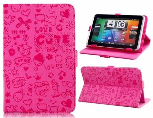 funda flip rosa  iphone 6 + cristal templado