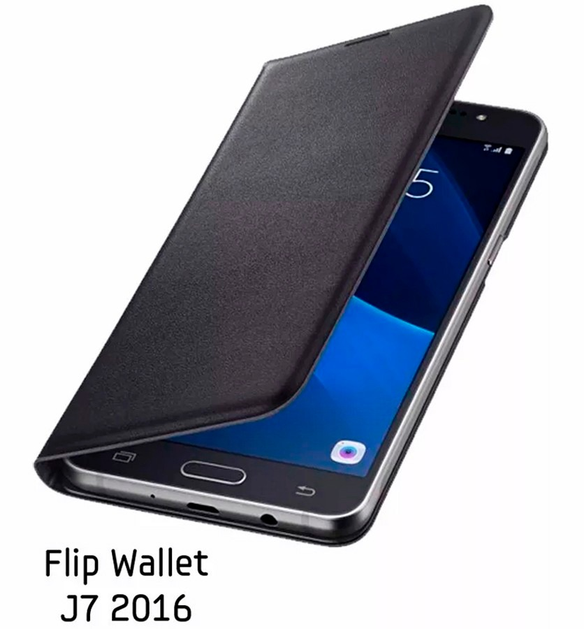 san francisco 7e4f8 2224f Funda Flip Wallet Samsung J7 2016 - J710 Original Local Gtia