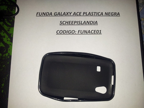 funda galaxy ace negra funace01