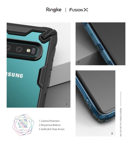 funda galaxy s10 s10 plus s10e ringke original fusion x anti impacto