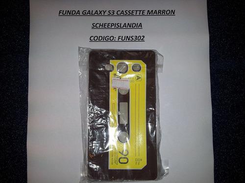funda galaxy s3 tipo cassette marron funs302