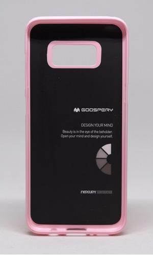 funda galaxy s8  mercury goospery jelly case rosa