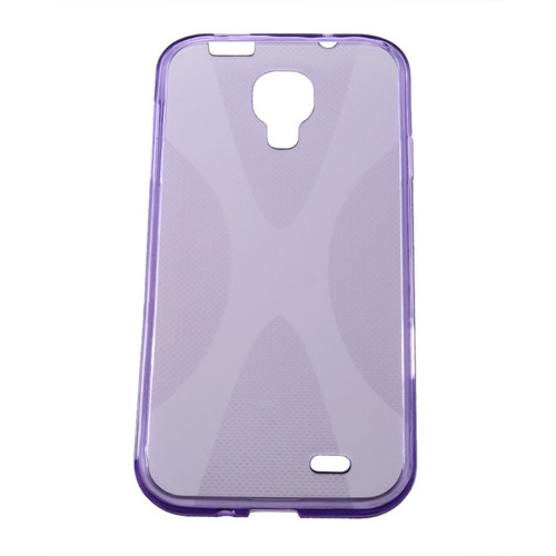 funda gel para samsung galaxy s4, anti-derrape color morado