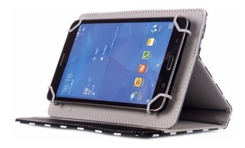 funda generica universal tablet 7  flip horizontal lunares
