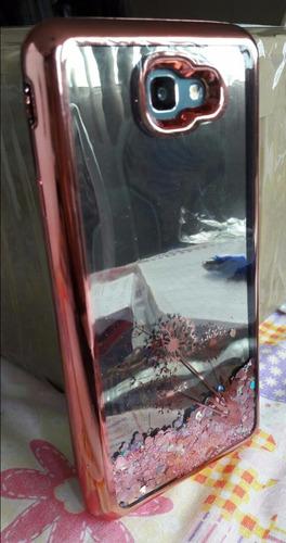 funda glitter brillos espejo pecera colores