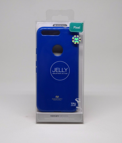 funda google pixel mercury goospery jelly case azul