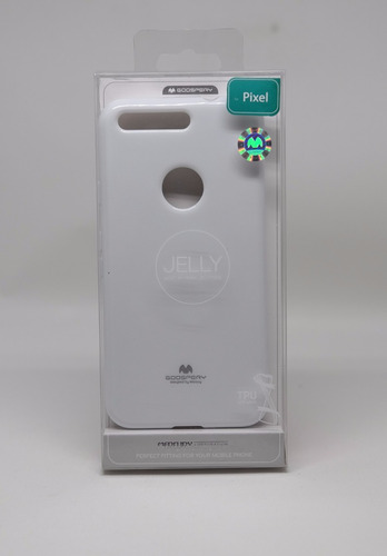 funda google pixel mercury goospery jelly case blanco