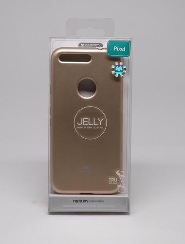 funda google pixel mercury goospery jelly case dorado