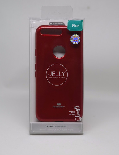 funda google pixel mercury goospery jelly case rojo