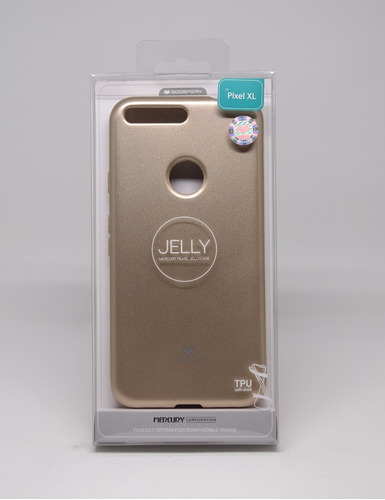 funda google pixel xl mercury goospery jelly case dorado