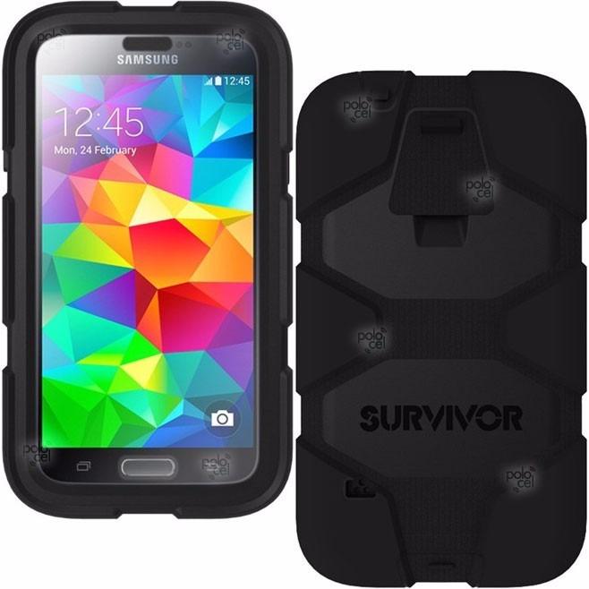 online store 404d7 252b7 Funda Griffin Survivor Samsung S5 + Clip + Film