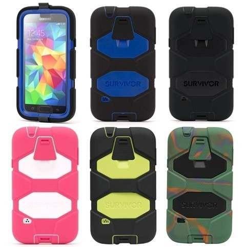 size 40 2dc6e 22932 Funda Griffin Survivor Samsung S5 I9600 Clip-stand