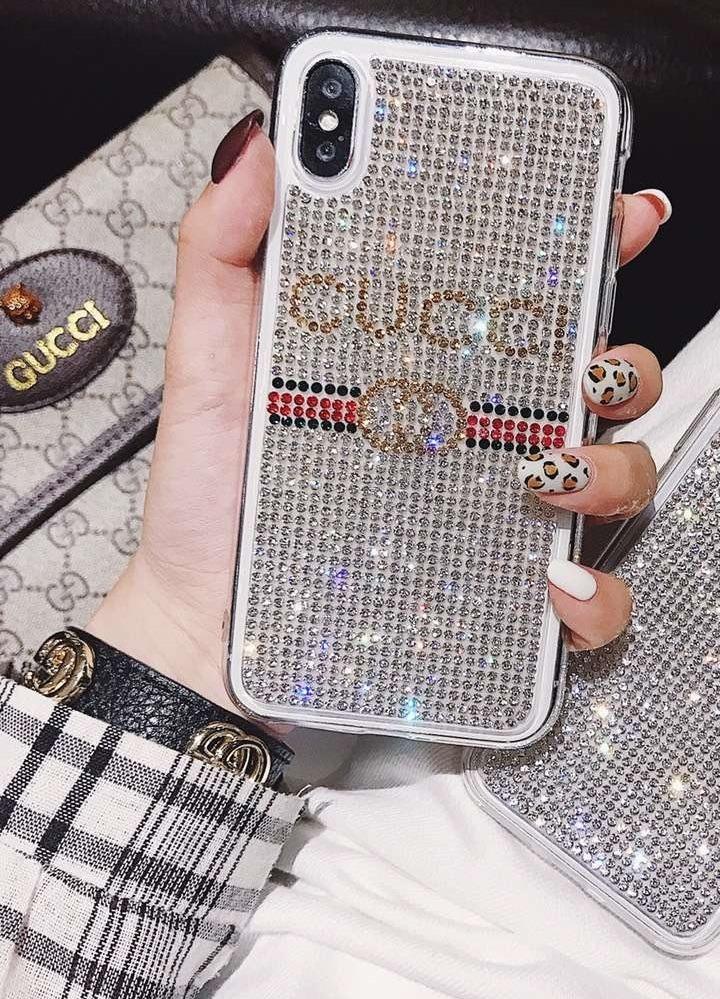 89997512a26 funda gucci piedras brillantes iphone 6 7 8 plus x xr xs max. Cargando zoom.
