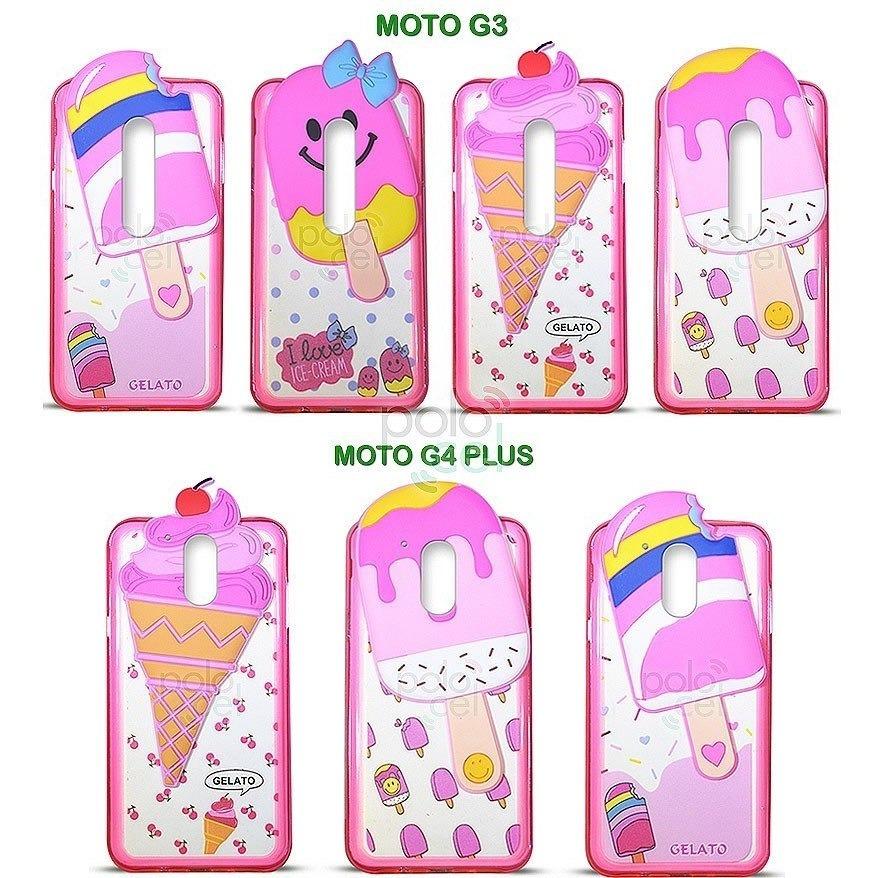 1250ab43439 Funda Helado Motorola Moto G4 G3 G4 Plus Diseño + Templado - $ 499 ...