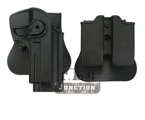 funda holster beretta 92fs + porta cargador doble