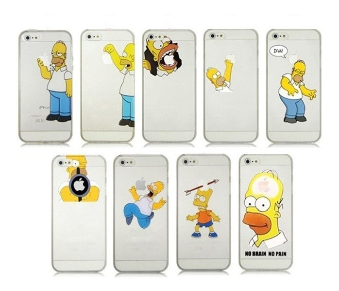 Funda iphone 5 Homer mordiendo manzana Funda Homer para iPhone 5