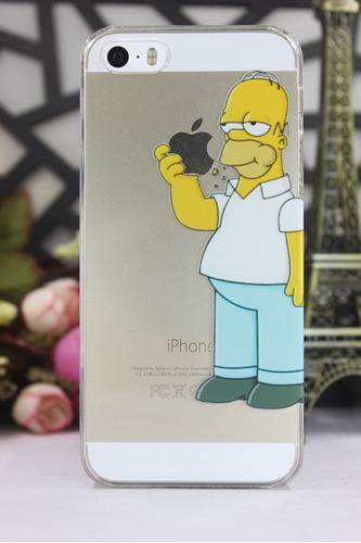 funda homero simpsons iphone 4 4s 5 5s 6 6s plus 7 7 plus 8