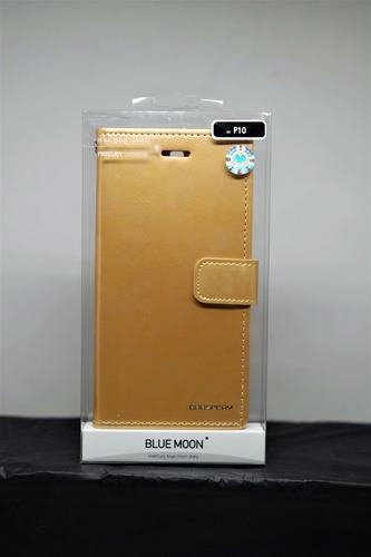 funda huawei p10 goospery bluemoon diary cartera dorado