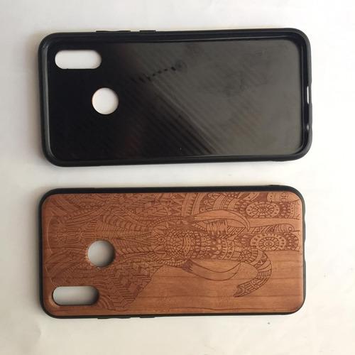 funda huawei p20 lite celular case madera