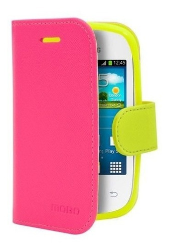 funda ice rosa con amarillo sam pocket neo s5310