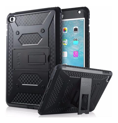 funda impacto ipad mini 4 3capas protecion soporte+envio