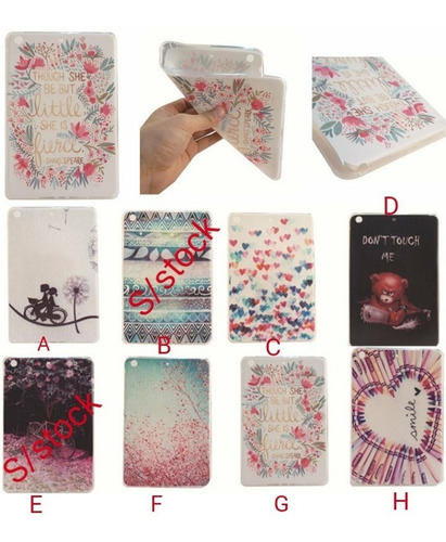 funda ipad air 2 mini 2 3 tpu flexible con diseños premium