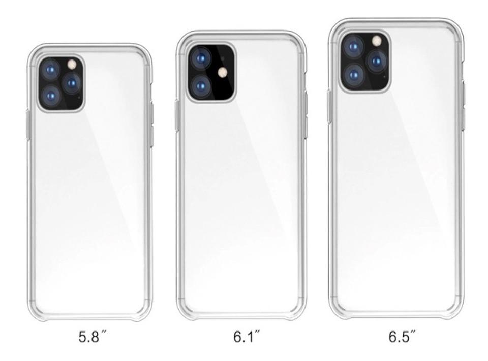 Funda iPhone 11 Pro Max 6.5 transparente con borde de Silicona 4
