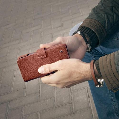 funda iphone 11 con tapa - cuero - wallet vaja