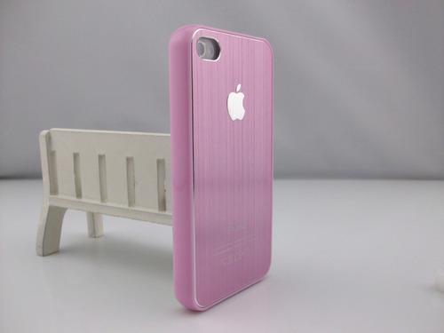 funda iphone 5 4 aluminio metálica, acrilico colores + film