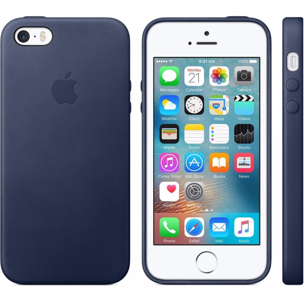 749e6500686 Funda iPhone 5 5s Se Apple Cuero Leather Case Azul - $ 500,00 en ...