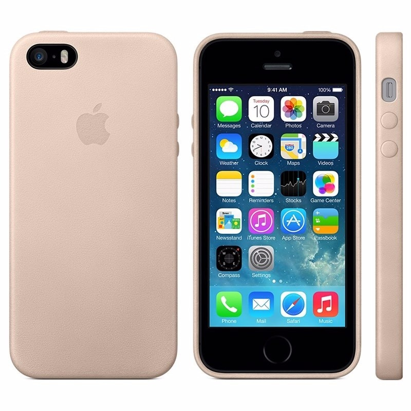5c565159381 Funda iPhone 5 5s Se Apple Cuero Leather Case Beige - $ 500,00 en ...