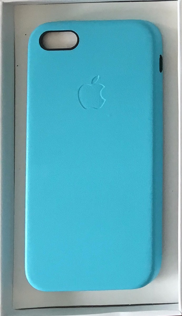 41d995d3a57 Funda iPhone 5 5s Se Apple Cuero Leather Case Turquesa - $ 500,00 en ...